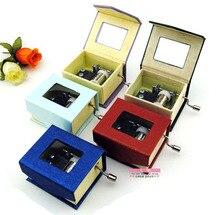 Multicolour mini hand-cranked music box music box birthday gift girls honey