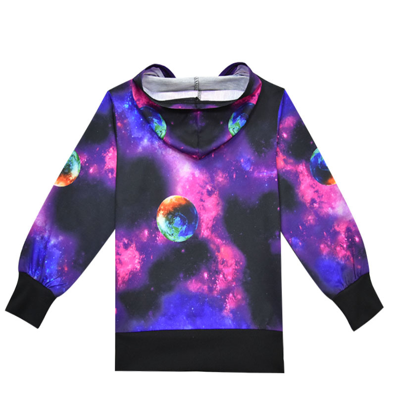 The Earth Universe Galaxy Children Kids Sweatshirt T Shirt 3 11Years Boys Girls Hoodies Sweatshirt T Shirts Spring kids clothes in T Shirts from Mother Kids