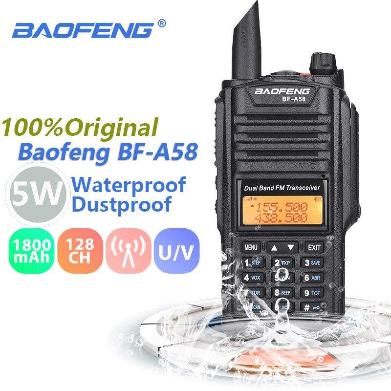 Baofeng BF-A58 talkie-walkie IP67 Marine étanche UHF VHF double bande Radio bidirectionnelle émetteur-récepteur jambon Radio Baofeng UV-9R