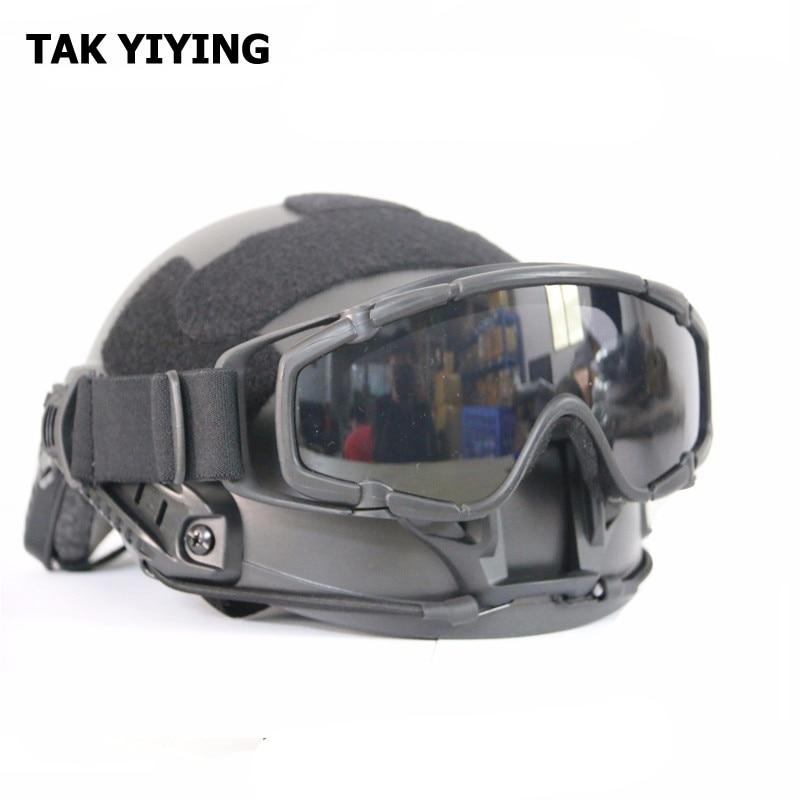 TAK YYYING חיצוני Airsoft בליסטיים טקטית Goggle עבור עדשה קסדה טקטית נגד ערפל
