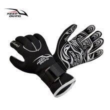 Неопреновые 3мм перчатки для погружений, теплые