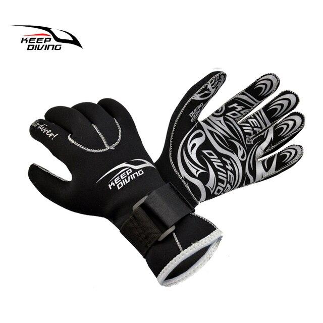 1d4227cc347ad Mantener buceo 3 MM genuino guantes de neopreno contra arañazos y mantener  caliente para el buceo