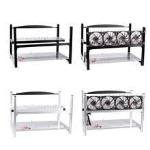 6 GPU Mining Frame Case Aluminum Computer ETH Open Air Stackable Rig for Bitcon Miner Kit EM88