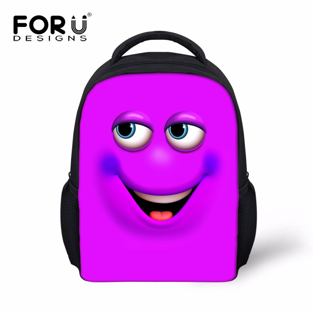 e17c2a7c5fbd Kawaii 3d Cartoon Smiley Backpack for Student Books Girl Pink Blue Funny  Printing Back Pack to