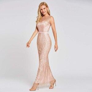 Image 3 - Dressvสีชมพูยาวทรัมเป็ตชุดราตรีBacklessราคาถูกScoopคอลูกไม้ชุดแต่งงานชุดMermaid Evening Dresses
