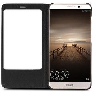 Image 2 - QIALINO étui pour Huawei Ascend Mate 9 luxe en cuir véritable couverture à rabat pour Huawei Mate9 sommeil fonction réveil étui intelligent pour mt9