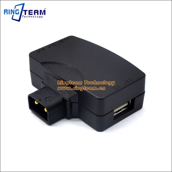 50Pcs D-Tap B-Tap Splitter Adapter to 5V USB & Powertap for V-Mount Camcorder Camera Battery BMPCC BMPC BMCC Smartphone Monitor