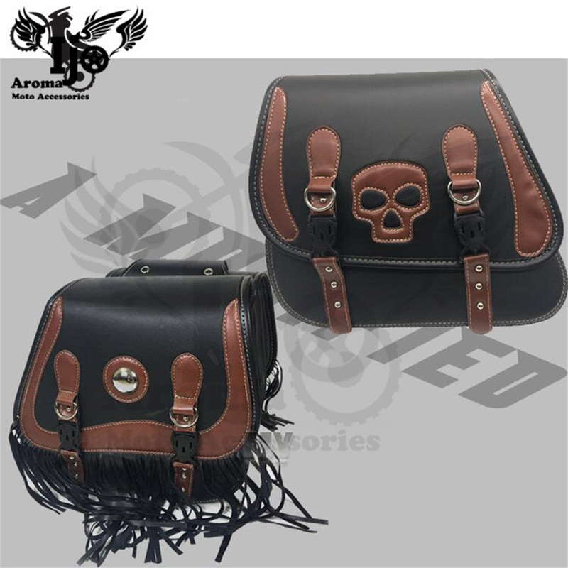 alforjas para moto saddle bag retro Skull for Vespa harley softail sacoche moto mochila moto helmet bag motorcycle bag backpack