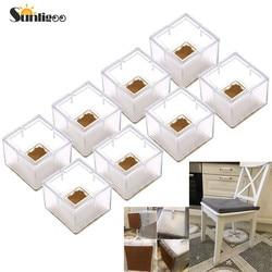 Sunligoo 8 шт. квадратная силиконовая форма крышки для ног покрывает носки защита для пола для мебели, стульев и столов, не скользят, предотвраща...