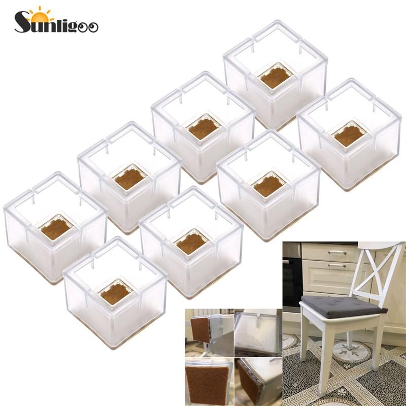 Eettafel Bank Wit Leer.Cdata Sunligoo 8pcs Vierkante Siliconen Been Caps Covers
