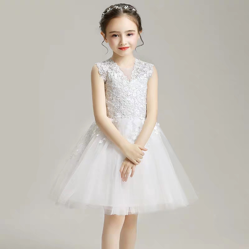 Little Girls Baby White Color Elegant Evening Birthday Party Princess Lace Dress Children Infant Ceremony Piano Pageant DressLittle Girls Baby White Color Elegant Evening Birthday Party Princess Lace Dress Children Infant Ceremony Piano Pageant Dress