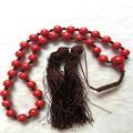 Beautifull 33 Contas De Âmbar de Imitação Cor Vermelha único 10mm Forma Redonda Oração Beads Tasbih Oração Do Rosário Frete grátis