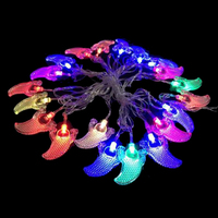 Free DHL Shipping Colorful Outdoor Lighted Christmas Decorations 2W Tentacle Ghost Bulbs AC110 220V 4 Meter