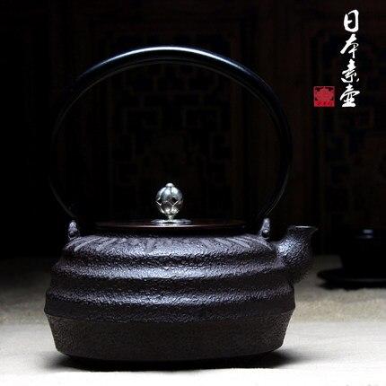 1200 мл высокого качества все ручной работы Японии Южной чугунок здоровья гладить Чай горшок кипяченой воды гладить Чай чайник Бесплатная до...