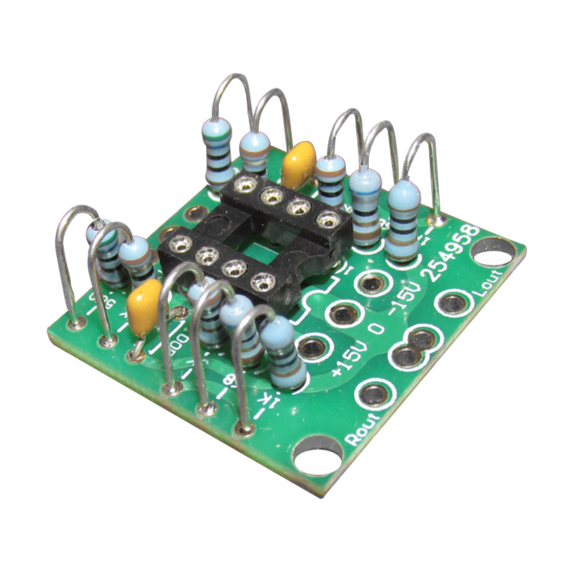 Dual Op Amp Board Preamp Dc Amplification Pcb For Ne5532/opa2134/opa2604/ad826 Measurement & Analysis Instruments