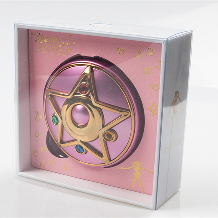 In Stock Anime Sailor Moon Crystal Moonlight Star Locket Compact Power Bank Portable Charger Cosmetic Mirror Light Gift Cosplay-in Costume Props from Novelty & Special Use    2