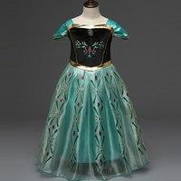 Girls Princess Summer Dresses Kids Alisa Cosplay Costume Clothing Children Rapunzel Cinderella Sleeping Beauty Sofia Party
