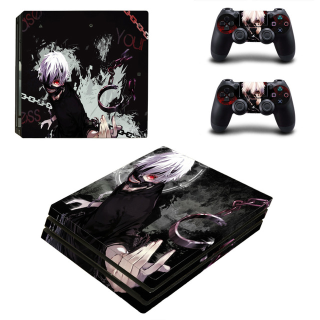 Tokyo Ghouls Skin Sticker Decal for PS 4 Console and 2 Controller