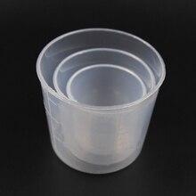 3PCS/Set 200ml 100ml 50ml Small Plastic Glue Mixing Cup Bait Mix Measuring Cups Kit for Carp Fishing