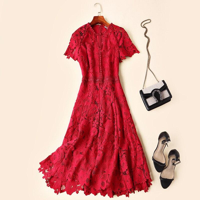 Robe Luxe Européenne Femmes Printemps Style Nouvelle Qualité Supérieure De Mode 2019 Partie Design Kah0391 1zqRSp0wv