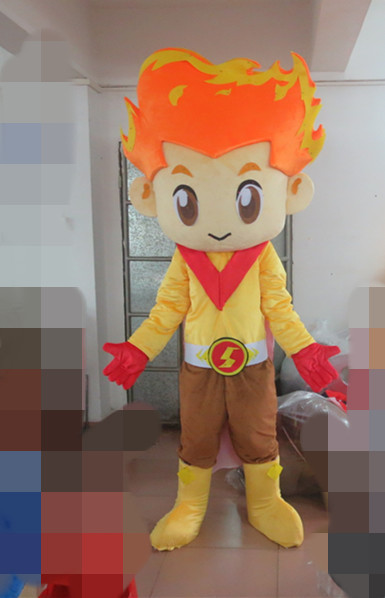 Personality customizable flame head doll cartoon mascot costume/adult size white belly baby clothing mascot-in Anime Costumes from Novelty u0026 Special Use on ... & Personality customizable flame head doll cartoon mascot costume ...