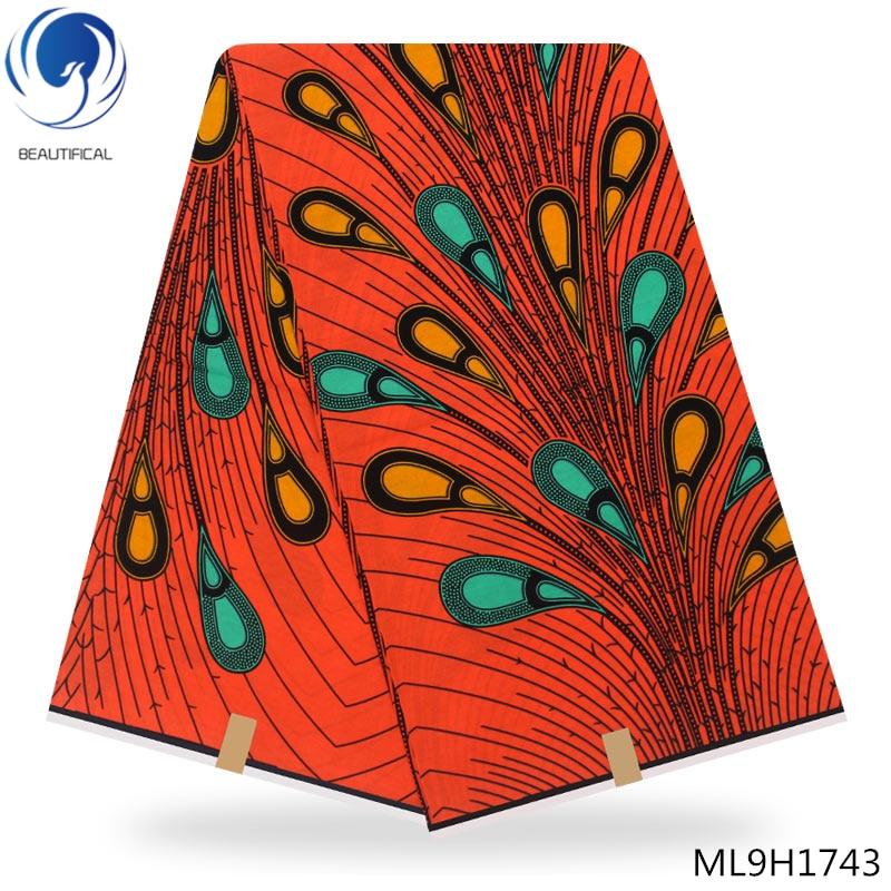 LIULANZHI royal blue Dutch wax fabric Woven ankara printed wax fabric high quality dutch batik wax fabric ML9H1728 ML9H1749 in Fabric from Home Garden