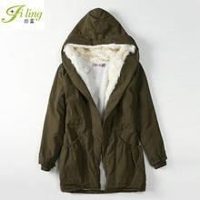 2016 New Winter Coat Thick Fur Collar Cotton Big Slim