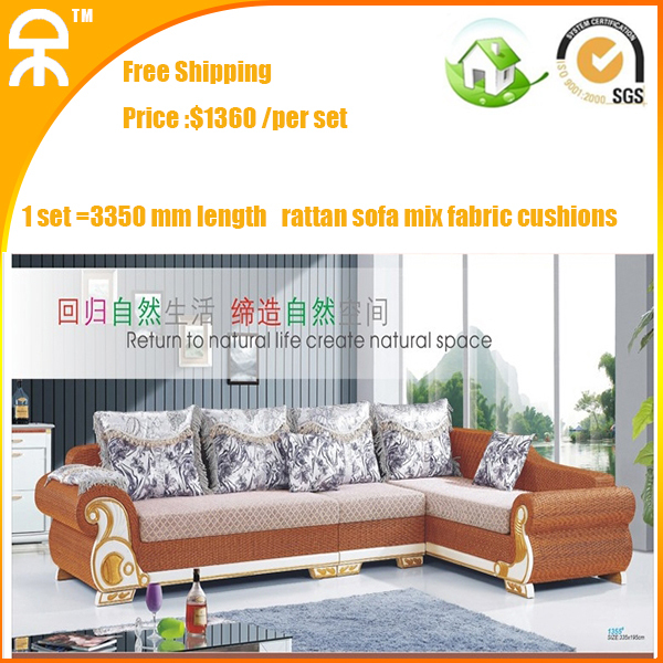 Modern Corner Living Room Upholstery Brown Mutifuctional Rattan Sofa Chaise Sleeper Couches Manufacture For Er