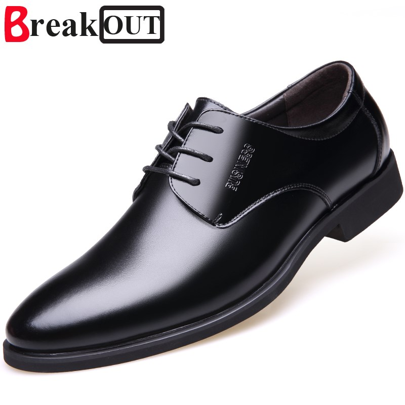 Break Out Spring Autumn Men Formal Wedding Shoes Luxury Men Business Leather Dress Shoes ...