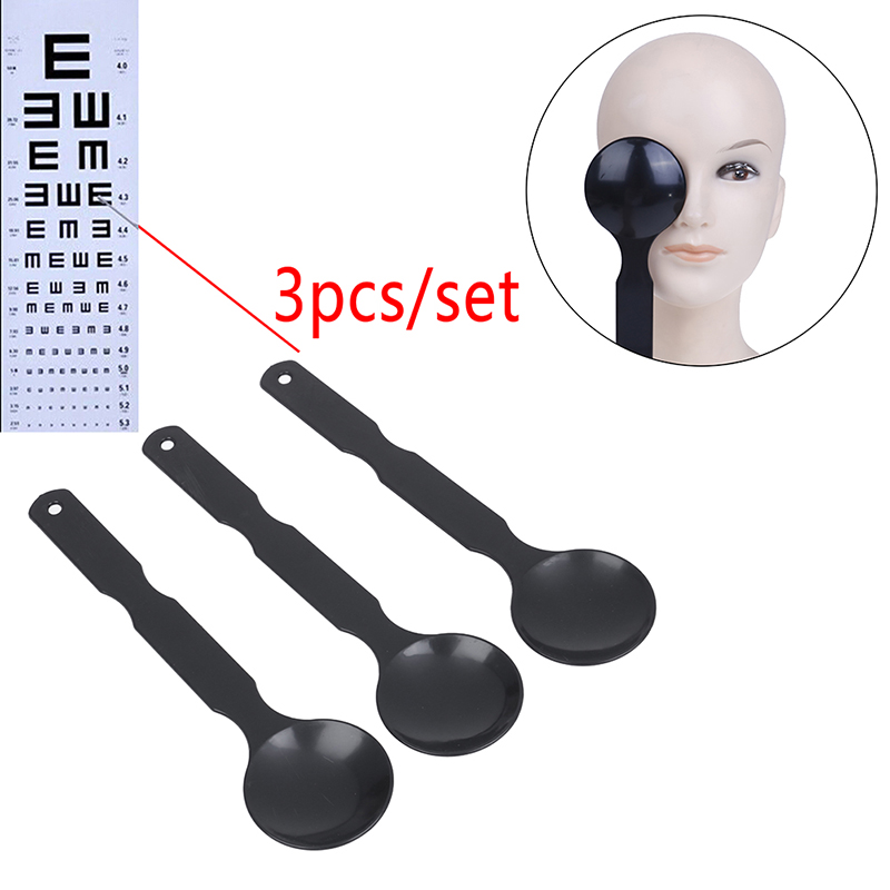 3pcs Long Handle Eye Occluder Eye Occluder Optometry Fresh Eye Test Blindfold Orifice Plate For Eye Exam Hot