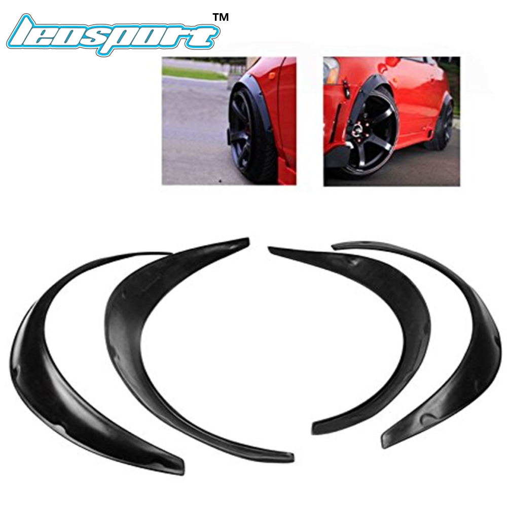 Leosport Universal Fender Flares Over Wide Body Wheel Arches 2pcs 2.75 inch (70mm) and 2pcs 2.inch (50mm)