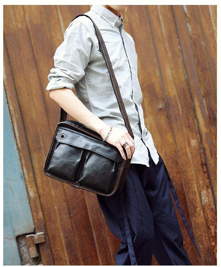 Tidog Business casual bag Satchel singles tide shoulder bag 17