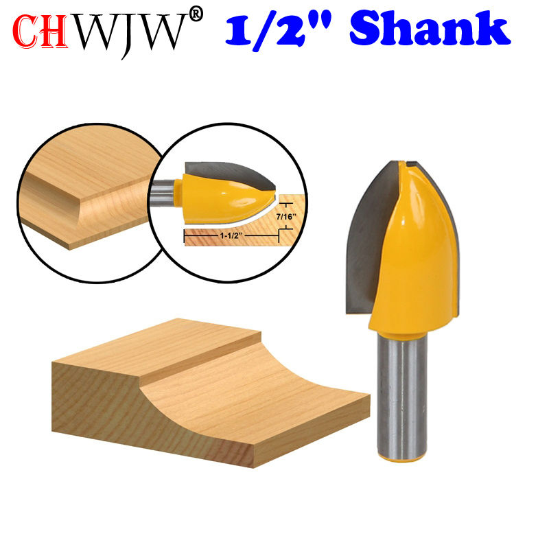 1PC 1/2 Shank Panel Raiser Router Bit - Vertical - Cove - door knife Woodworking cutter Tenon Cutter for Woodworking Tools 1 2 door nail cutter knife household west tenon joints fit together stitching carpentry knife blade 3pcs et