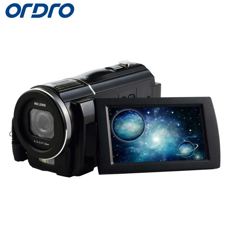 "Ordro HDV-F5 3.0"" 1080P Full HD 16X Zooms Reflex Digital Cameras Professional Video Recorder w/ CMOS Lens 24MP Photo Camera"