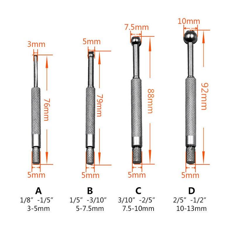 Adjustable Inner Diameter Gauge Expansion Hole Manual Measuring Tool 4pcs New