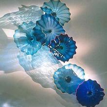 Handmade Home Decorative Murano Flower Glass Plates for Walls