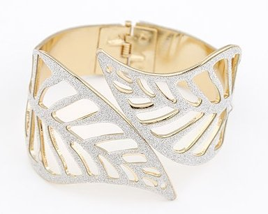 Birthday Gifts! 2pcs/lot Europe Style Statement Brand Hollow Leaf Bracelet Bangles Fashion Arm Candy Bracelets For Women