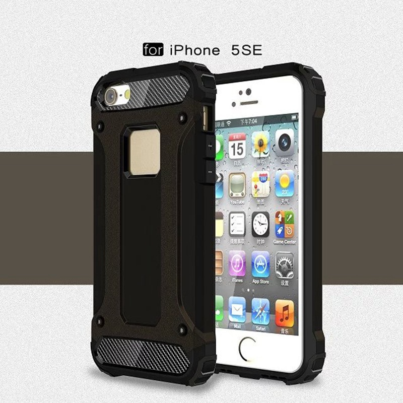 Aliexpress.com : Buy For IPhone 5 SE Luxury Double Layer Hybrid Cover Armor  Rugged Plastic Case For Apple IPhone 5SE PC+TPU Silicone Mobile Phone Bag  From ...