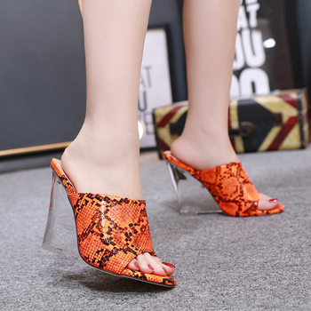 Women's Sandals Crystal Wedge Snake Women's Slippers 2020 New Super High Heels Wedges Shoes For Women Color Wear Ladies Shoes 2