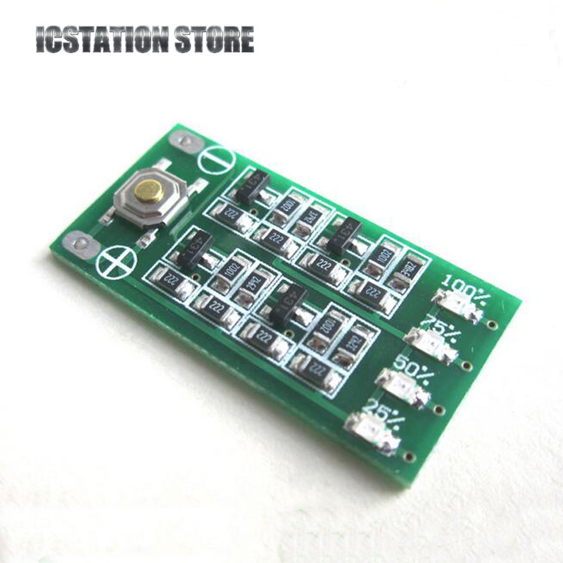 3S 12.6V Lithium Battery Capacity Indicator Module Lipo Li-ion Battery Power Level Display 3 Serial Input 9-26V 4 LED Display 30a 3s polymer lithium battery cell charger protection board pcb 18650 li ion lithium battery charging module 12 8 16v