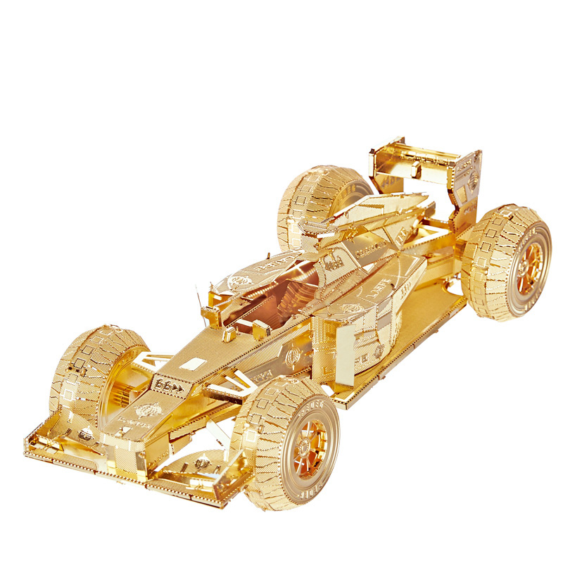 Piececool Racing Car DIY DIY 3D Metal Nano Puzzle Assemble Model Kits P052 Laser Cut Jigsaw Toys