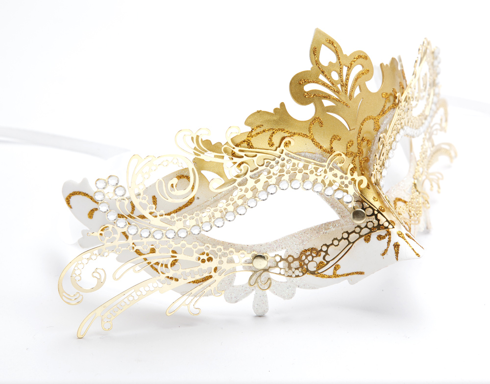 Halloween masquerade party princess mask female metal mask fox cosplay mask female Детская кроватка