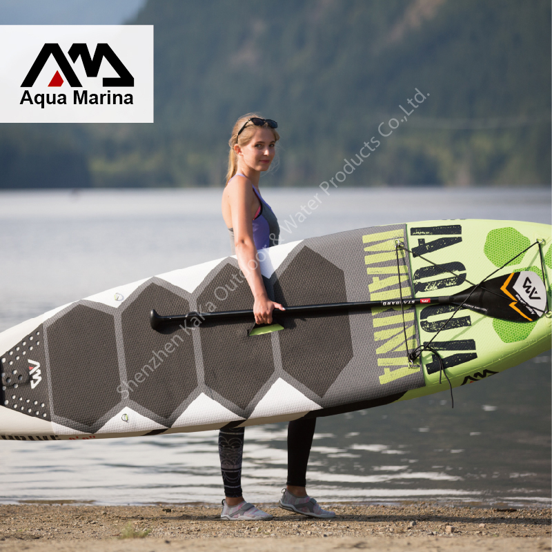 2017 new 300*75*15cm AQUA MARINA 10 feet THRIVE with pedal inflatable board stand up paddle board surf board surfboard A01006