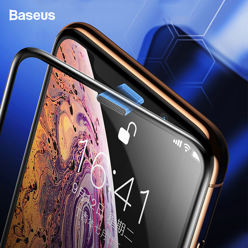 Baseus 0.3mm Dust-proof Screen Protector For iPhone Xs Max Xr Xs Soft Edge Protective Tempered Glass Film For iPhone Xsmax X S RBaseus 0.3mm Dust-proof Screen Protector For iPhone Xs Max Xr Xs Soft Edge Protective Tempered Glass Film For iPhone Xsmax X S R