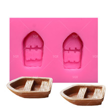 DIY Beautiful 2pc Boat Silicone Fondant Mould Cake Decorating Baking Tools Kitchen Accessories SQ15327
