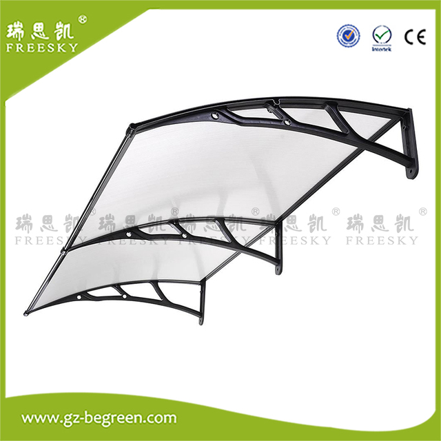 YP120240 120x240cm Window Awning Outdoor Polycarbonate Front Door Patio  Cover Canopy Sun Shetter Rain Protection