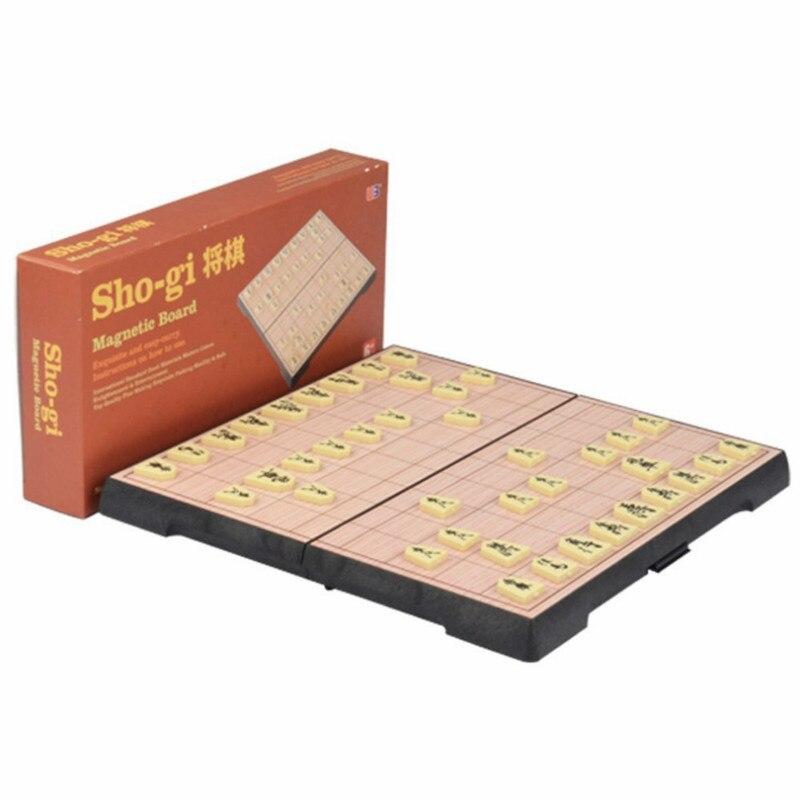 25*25*2 Cm pliable magnétique pliant Shogi ensemble en boîte Portable exercice logique pensée jeu d'échecs japonais, livraison gratuite
