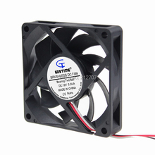 Free Shipping 10pcs / Lot Two Ball Bearing Style 12V 3Pin 7CM 70MM 7015 Cooling Cooler Fan