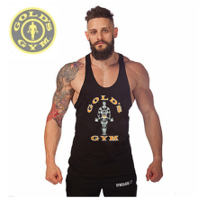 Fitness!New 2017 fashion cotton sleeveless shirts tank top Fitness men shirt mens singlet  Bodybuilding Plus size vest