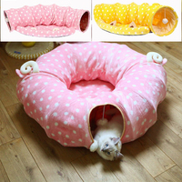 New Cute Pet Cat Tunnel Kitten Play Toy Collapsible Toys Cat Toy Products For Fun